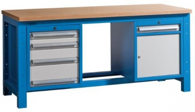 WB-DH 1840 Nagyteherbírású munkapad 1 szekrénnyel és 5 fiókkal
