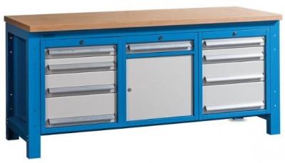 WB-HDH 1840 Nagyteherbírású munkapad 1 szekrénnyel és 9 fiókkal