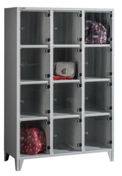 BOX 3/12 PLEXI Plexiajtós értékmegőrző szekrény 12 rekeszes