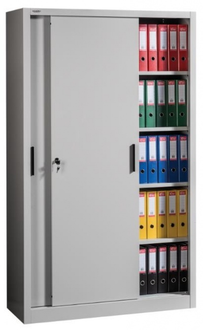 SLIDE 2000/1200 Tolóajtós irattároló szekrény 4 polccal