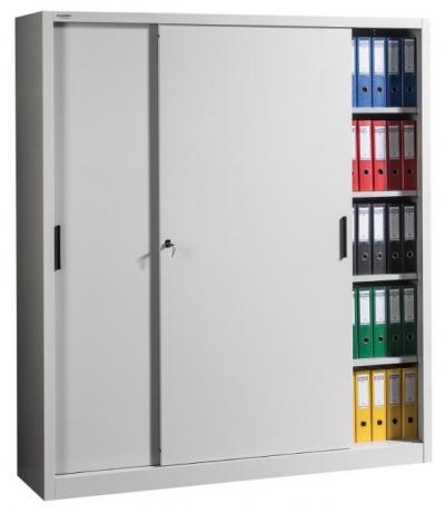 SLIDE 2000/1800 Tolóajtós irattároló szekrény 2x4 polccal